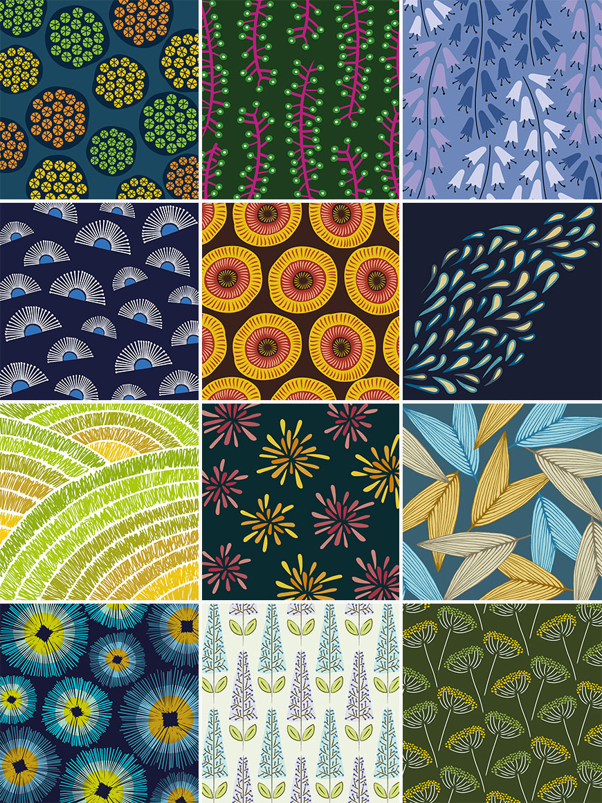 100 days of patterns design project top picks