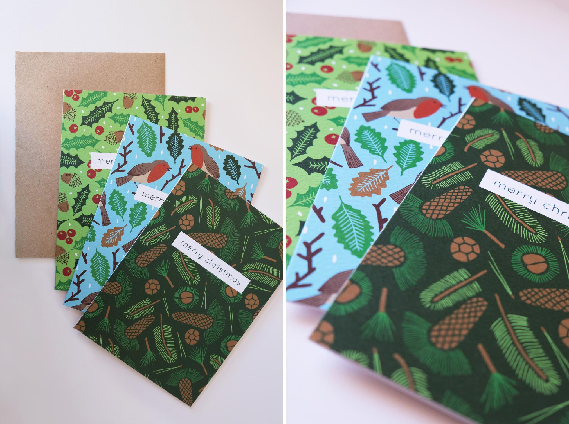 Stylish high quality patterned Christmas cards from Studio Element