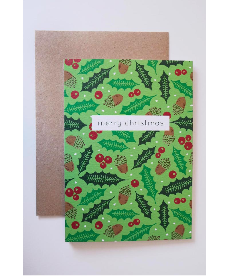 holly colourful cards