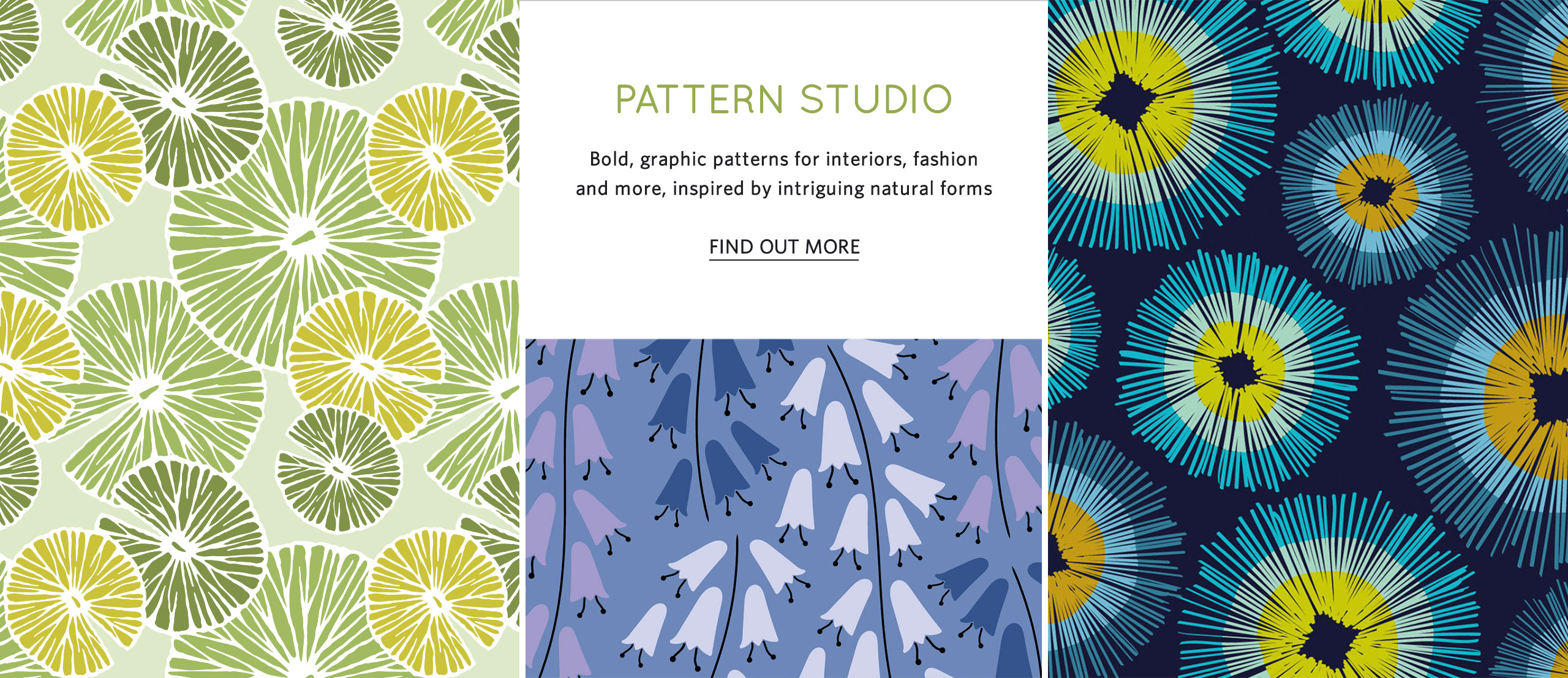 Pattern design commissions - bold colourful graphic patterns from Studio Element