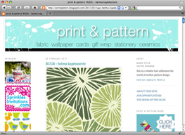 Print and Pattern Blog